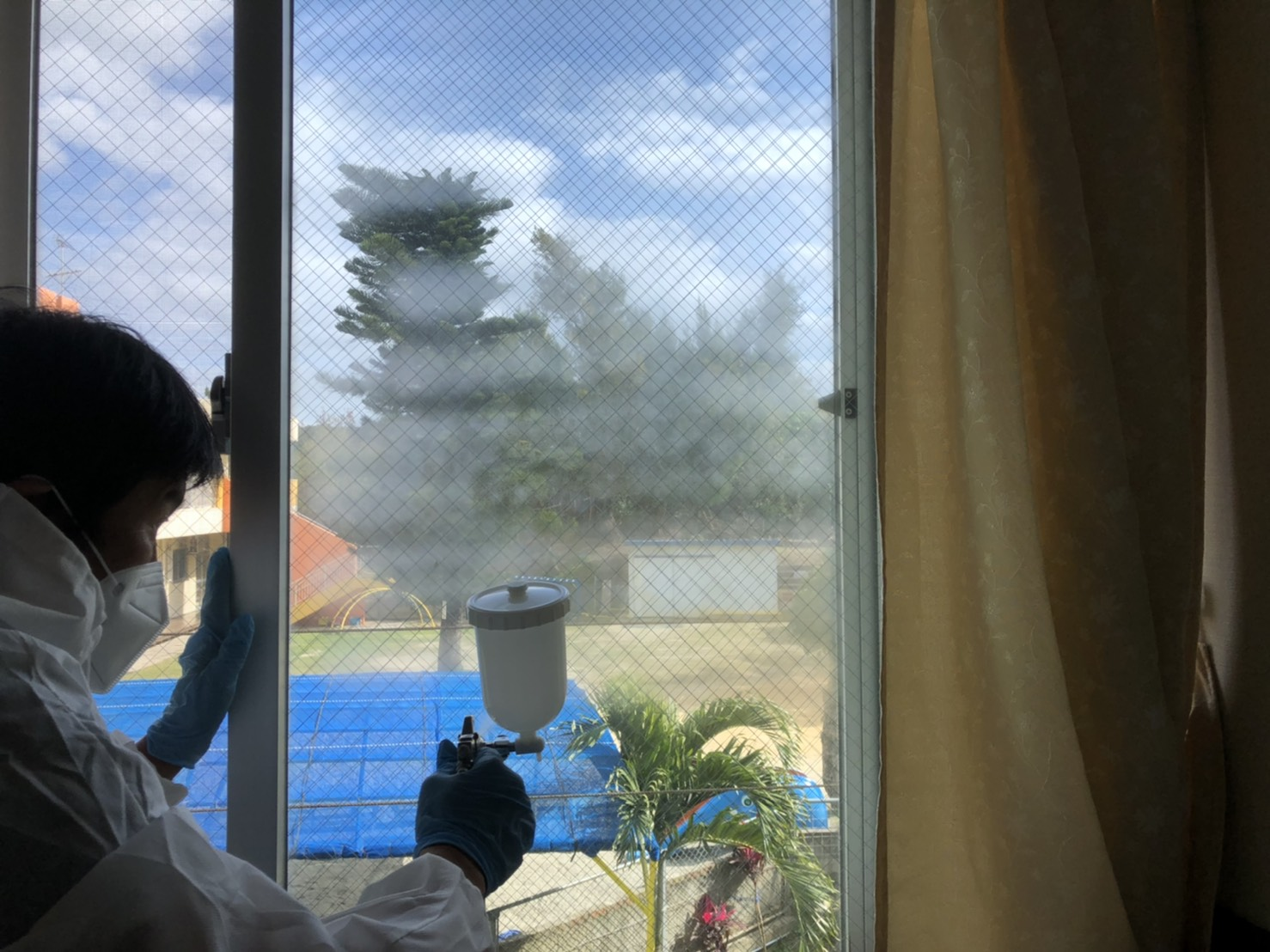 感染症予防対策に空気触媒セルフィール_施工会社ブルーフィールド